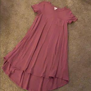 Heather Pink LuLaRoe Carly Dress